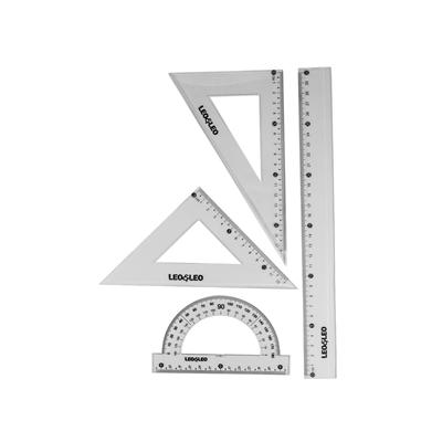 Kit-Escolar-Geometrico-Leonora-com-Regua-30cm-2-Esquadros-e-Tranferidor-180°