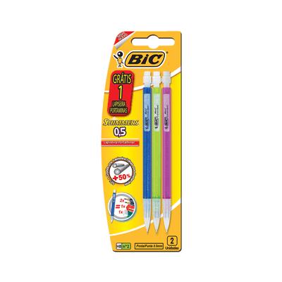 Lapiseira-Bic-Shimmers-0.5mm-HB-Nº2-com-3-Unidades