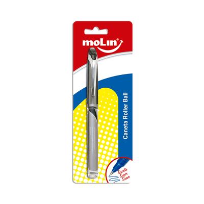 Caneta-Roller-Ball-Molin-Ponta-Fina-0.7mm-Preta