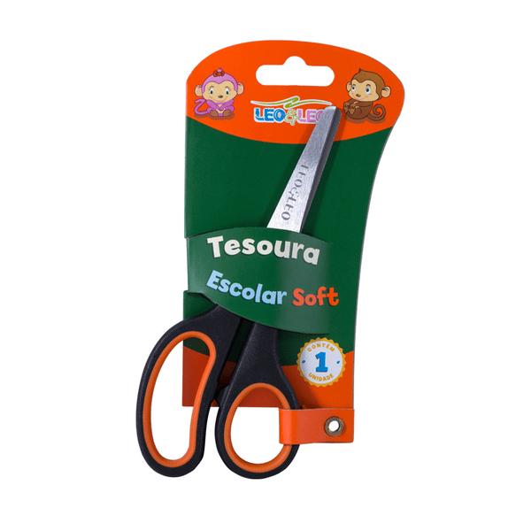 Tesoura-Leonora-Ponta-Redonda-Soft-Emborrachada-Cores-Diversas-12cm