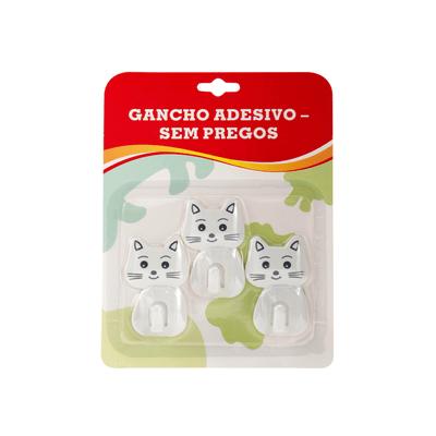 Gancho-Le-Adesivo-Gatinho-Fixa-Facil-Branco-com-3-Pecas