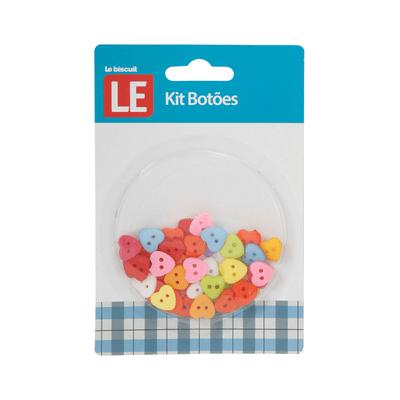 Kit-Botao-Plastico-Le-Coracao-com-40-Unidades-Colorido