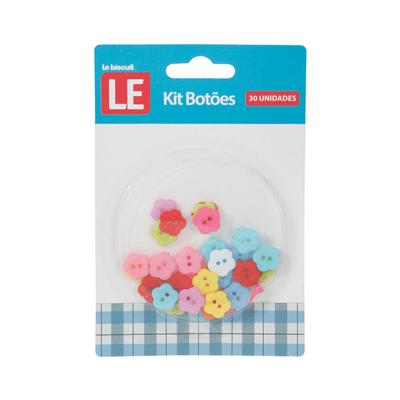 Kit-Botao-Plastico-Le-Flor-com-30-Unidades-Colorido
