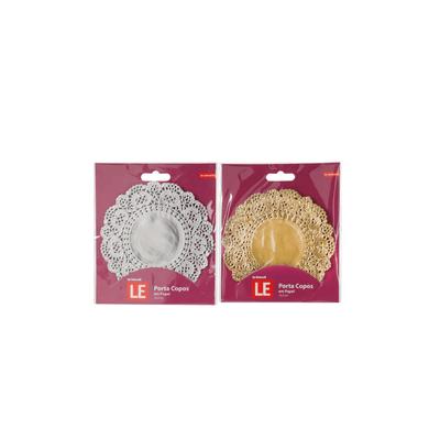 Porta-Copos-Le-Papel-Redondo-125cm-com-20-Unidades-Dourado-ou-Prata