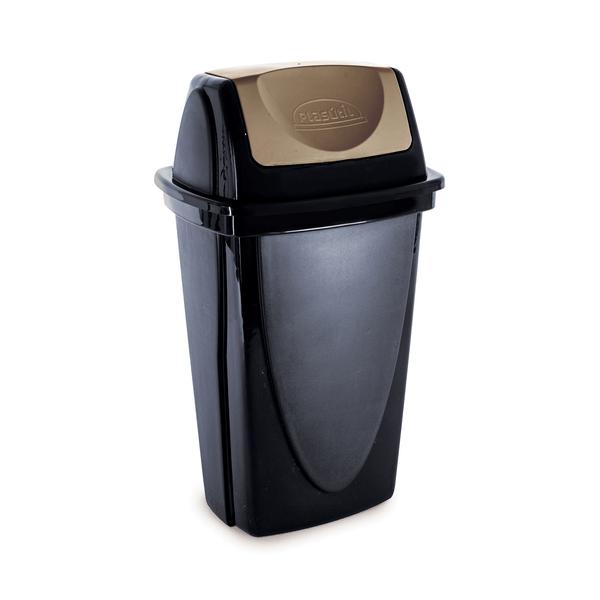Lixeira-Plasutil-Plastico-com-Tampa-Basculante-Ecoblack-9l
