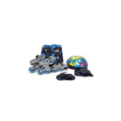Kit-Patins-Le-Capacete-e-Protetor-Azul-Tamanho-39-a-42