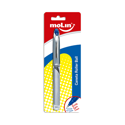 Caneta-Roller-Ball-Molin-Ponta-Fina-0.7mm-Azul