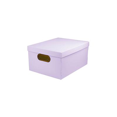 Caixa-Organizadora-Dello-Media-Serena-Lilas-Pastel-38x29x18cm