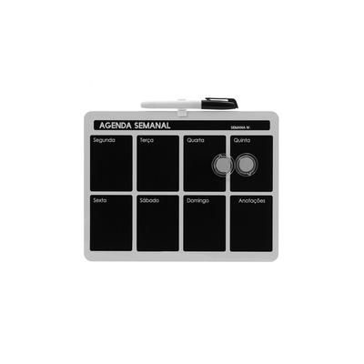 Quadro-Magnetico-Negro-Le-Planejamento-Semanal-com-2-Imas-e-Marcador-215x28cm