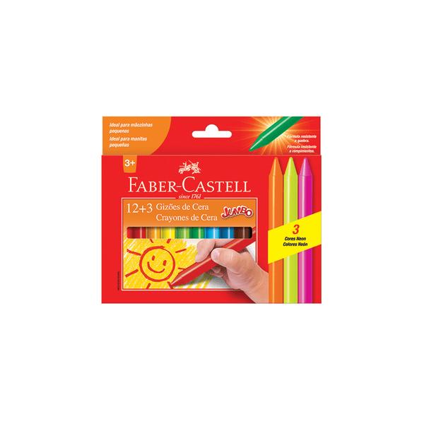 Giz-Cera-Faber-Castell-Jumbo-com-15-Cores