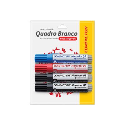 Marcador-para-Quadro-Branco-Compactor-com-4-Cores