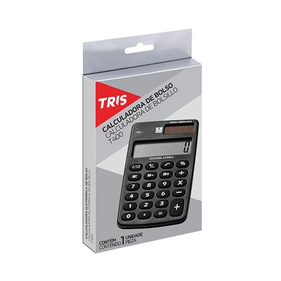 Calculadora-de-Bolso-Tris-8-Digitos-Preta