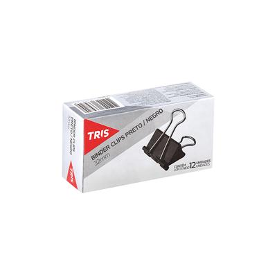 Binder-Clips-Tris-Preto-32mm-com-12-Unidades