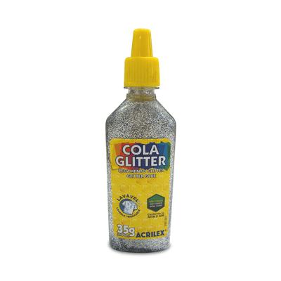Cola-Acrilex-Gliter-Prata-35g