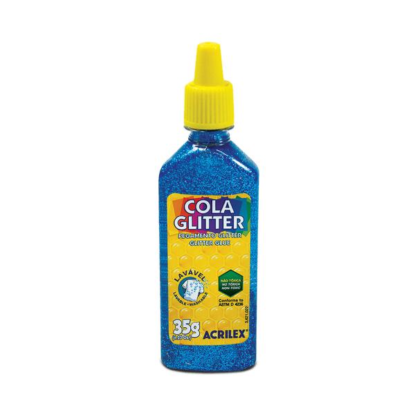 Cola-Acrilex-Gliter-Azul-35g