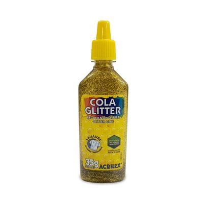 Cola-Acrilex-Gliter-Ouro-35g