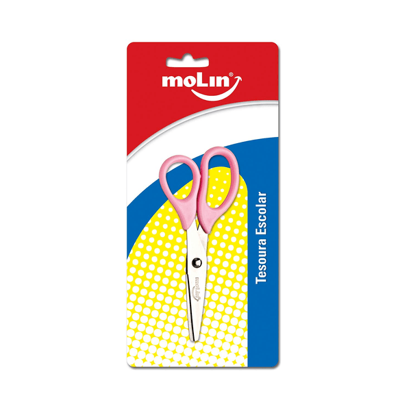 Tesoura-Molin-Ponta-Redonda-Basic-Color-Cores-Diversas-13cm