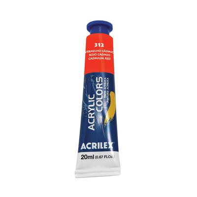 Tinta-Acrilica-Acrylic-Colors-20ml-Vermelho-de-Cadmio