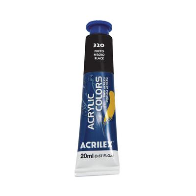 Tinta-Acrilica-Acrylic-Colors-20ml-Preto