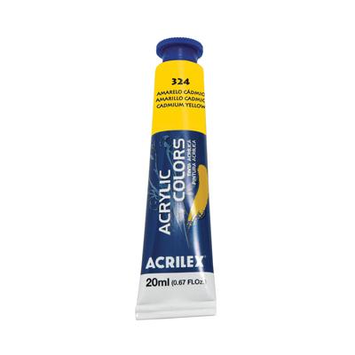 Tinta-Acrilica-Acrylic-Colors-20ml-Amarelo