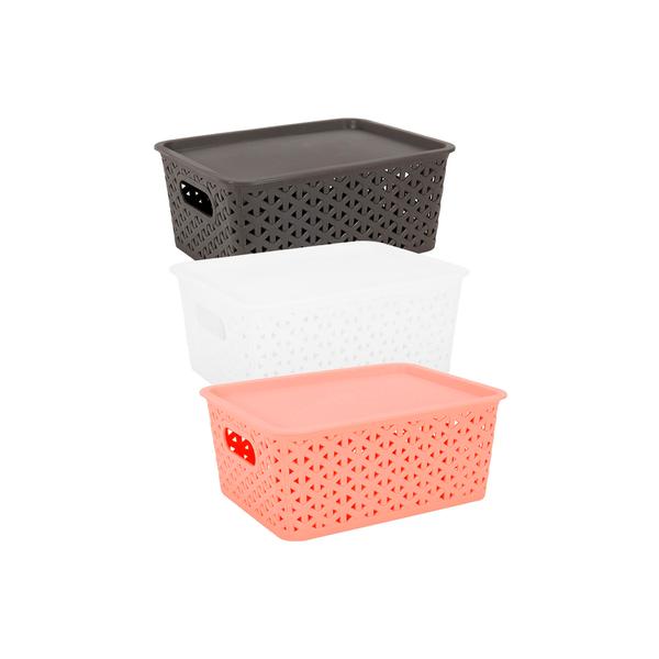 Caixa-Organizadora-Le-Plastico-Vazado-com-Tampa-Cores-Diversas-35l