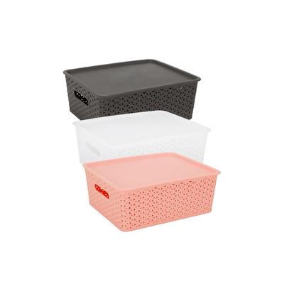 Caixa-Organizadora-Le-Plastico-Vazado-com-Tampa-Cores-Diversas-12l