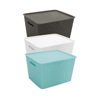 Caixa-Organizadora-Le-Plastico-Vazado-com-Tampa-Cores-Diversas-21l