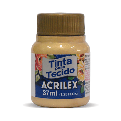 Tinta-Acrilex-para-Tecido-Metalica-37ml-Ouro