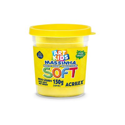Massa-Modelar-Acrilex-Soft-Potinho-Base-de-Amido-Amarelo-Limao-150g