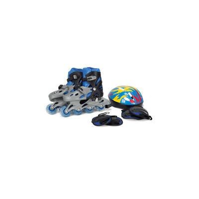 Kit-Patins-Le-Capacete-e-Protetor-Azul-Tamanho-35-a-38