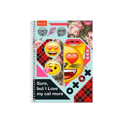 Caderno-Universitario-Foroni-Espiral-Capa-Dura-Emoji-Love-1-Materia-Capas-Diversas