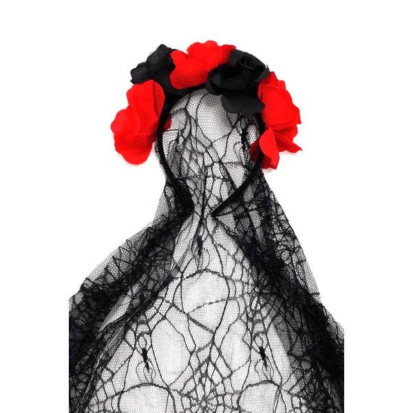 Tiara-Le-Flores-e-Veu-Halloween