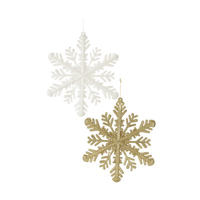 Enfeite-para-Arvore-de-Natal-Le-Floco-de-Neve-com-Glitter-GS01