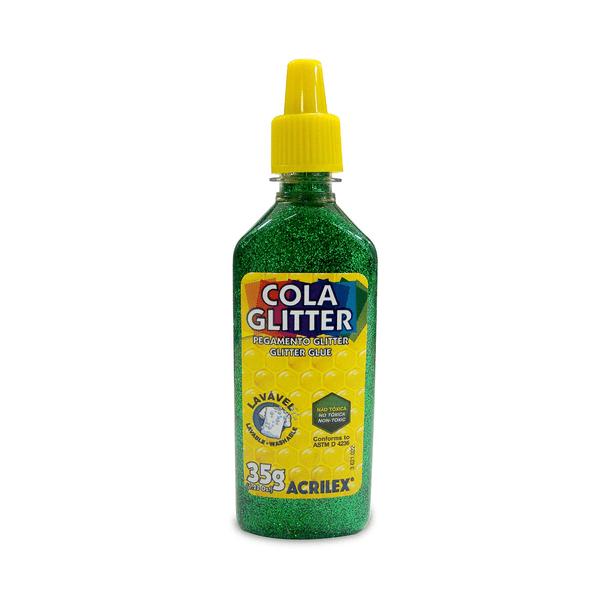 Cola-Acrilex-Gliter-Verde-35g