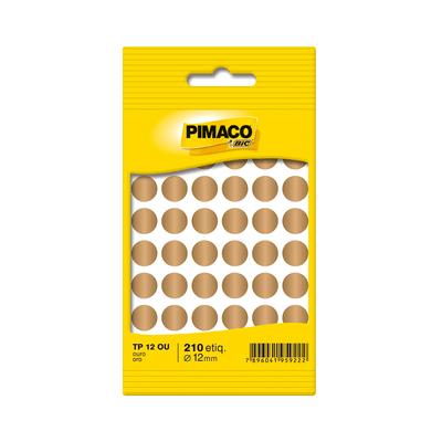 Etiqueta-Adesiva-Pimaco-Circular-TP-12-Ouro-com-350-Unidades