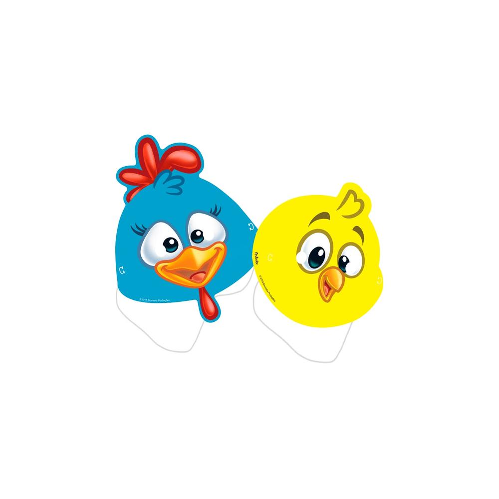 A Galinha Dos Ovo De Ouro Para Colorir máscara festcolor com 8 unidades galinha pintadinha - lebiscuit