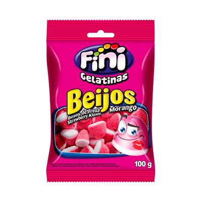 Bala-Gelatina-Beijos-Morango-Fini-100g