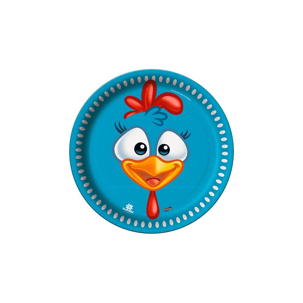 A Galinha Dos Ovo De Ouro Para Colorir prato festcolor redondo com 8 unidades galinha pintadinha