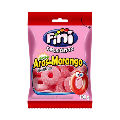 Bala-Gelatina-Arcos-Morango-Fini-100g