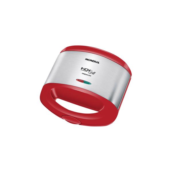 Sanduicheira-Mondial-Inox-Red-S19-Vermelha-127V