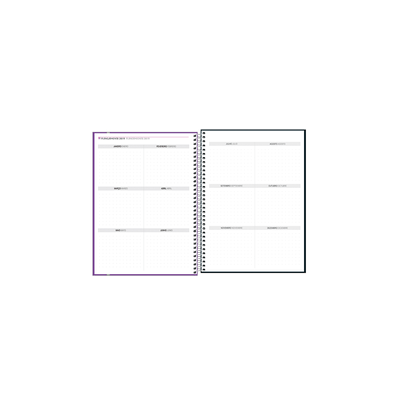 Agenda-Planner-Tilibra-Espiral-Neon-Grande-Cores-Diversas