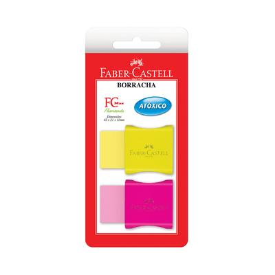 Borracha-Faber-Castell-Max-Neon-Capa-Plastica-Cores-Diversas-com-2-Unidades