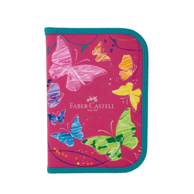 Estojo-Colorir-Faber-Castell-Completo-Borboleta-Rosa-com-18-Itens