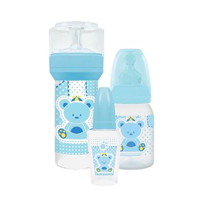 Kit-Mamadeira-Lillo-Primeiros-Passos-Azul-com-3-Unidades
