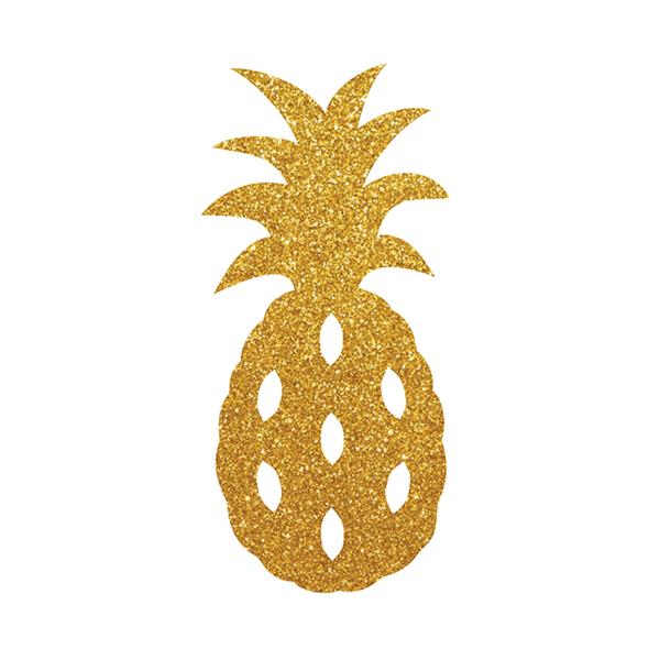 Aplique-Decorativo-Duplart-Abacaxi-Mini-com-6-Unidades-Dourado