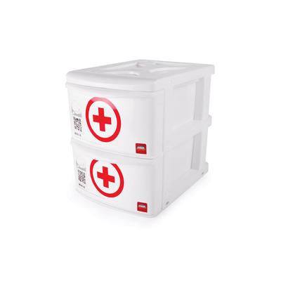 Gaveteiro-Plasutil-Plastico-para-Medicamentos-com-2-Gavetas
