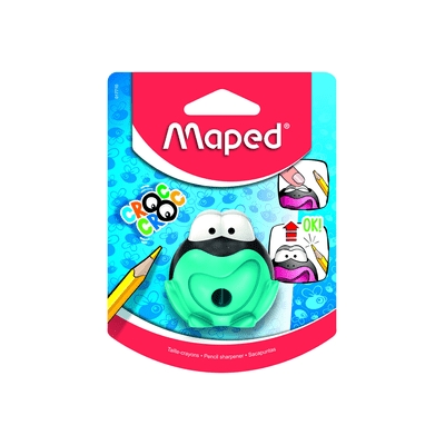 Apontador-Maped-com-Deposito-Croc-Croc-Sapo-1-Furo-Cores-Diversas