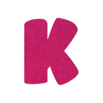 Placa-Duplart-Eva-12cm-Rosa-Letra-K
