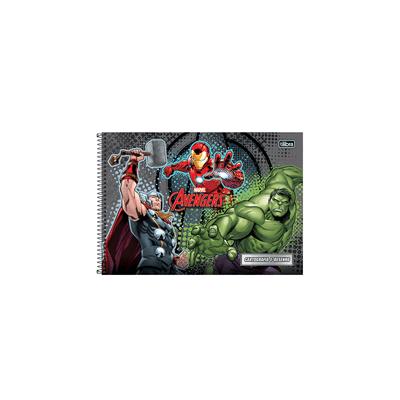 Caderno-Cartografia-Tilibra-Espiral-Capa-Dura-Avengers-96-Folhas-Capas-Diversas