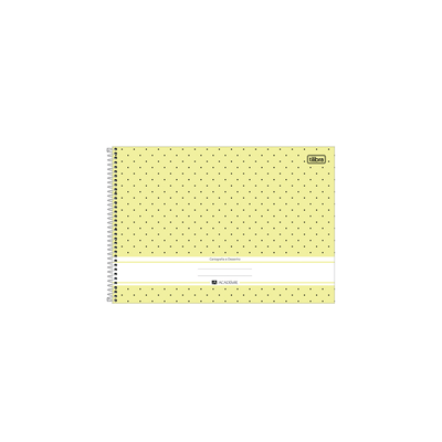 Caderno-Cartografia-Tilibra-Espiral-Capa-Dura-Academie-Poa-80-Folhas-Cores-Diversas